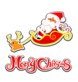 036 Merry Christmas Santa and christmas text 002 vector image vector image