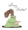 a horse for Christmas vector image vector image