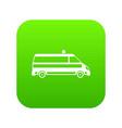 ambulance car icon digital green vector image vector image