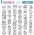 baby care toys kid feeding concept symbols vector image vector image