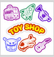 baby toy set cute object for small children vector image