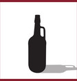 beer or wine black silhouette isolated vector image vector image