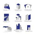 building apartment logos vector image vector image