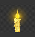 burning candle fire vector image