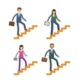 Business and education icons set Development or vector image vector image