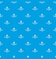 cake shop pattern seamless blue vector image vector image