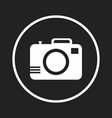 camera icon on black background flat vector image vector image