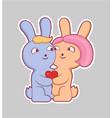 cartoon style love sticker vector image vector image