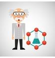 character man scientist beaker laboratory vector image