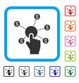 click financial network framed icon vector image vector image