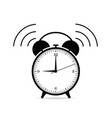 clock ticking in black color vector image