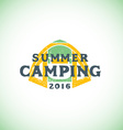 color summer camping sign template vector image vector image