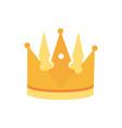 crown monarch jewel royalty king or queen vector image vector image