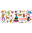 day of the dead traditional mexican holiday vector image