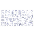 doodle icons hand drawn business signs creative vector image