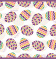 easter egg seamless pattern spring holiday vector image vector image