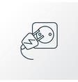 electric socket icon line symbol premium quality vector image