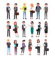 entrepreneurs executive workers men and women set vector image vector image