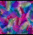 exotic leaves bright colors seamless pattern vector image vector image