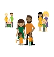 Families with kids people set Gay couple with vector image vector image