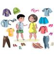 fashion costumes teenage wear set vector image vector image