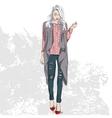 fashion look color vector image vector image