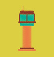 flat icon in shading style airport control tower vector image vector image