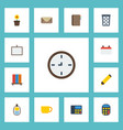 flat icons contact whiteboard identification and vector image vector image