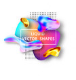 fluid shape layout isolated template set template vector image vector image