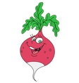 Fresh radish cartoon vector image vector image