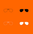 glasses icon vector image vector image
