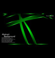 green ribbon wave on a black background layout vector image vector image