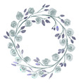 Grey Flower watercolor wreath for beautiful design vector image vector image