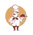 happy cartoon chef for your logo vector image vector image