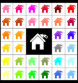 home silhouette with tag felt-pen 33 vector image vector image