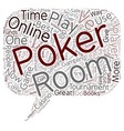 How to Find The Best of Online Poker Rooms text vector image vector image