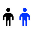 human flat icon vector image vector image