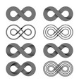 infinity shape unlimited symbol endless set vector image