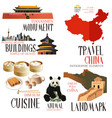 infographic elements for traveling to china vector image
