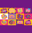 kids game zone banner children game party posters vector image