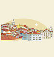 lisbon cityscape view vector image vector image