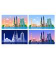 manama bahrain panoramic view vector image