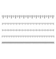 measurement scale with black marks ruler scale vector image