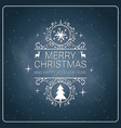 merry christmas poster retro style on chalkboard vector image