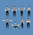 mime set pantomime sad and yoga bewildered and vector image vector image