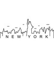 new york outline icon can be used for web logo vector image