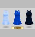 realistic detailed 3d women dress mock up light vector image vector image