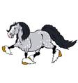 running cartoon heavy horse vector image vector image