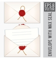 Sealed and Opened Envelope with Blank Letter vector image