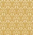 Seamless floral damask background antique vector image vector image